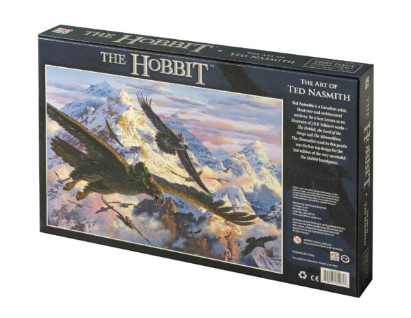 The hobbit jigsaw box back